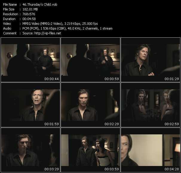 David Bowie HQ Videoclip «Thursday's Child»