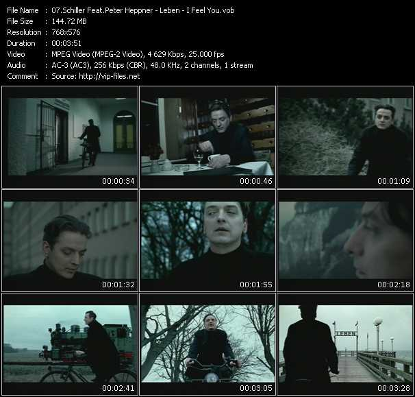 Schiller Feat. Peter Heppner HQ Videoclip «Leben I Feel You»