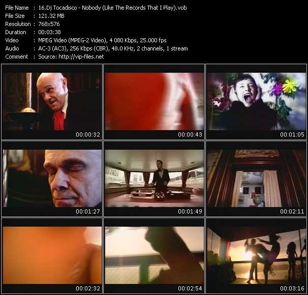 Dj Tocadisco HQ Videoclip «Nobody (Like The Records That I Play)»
