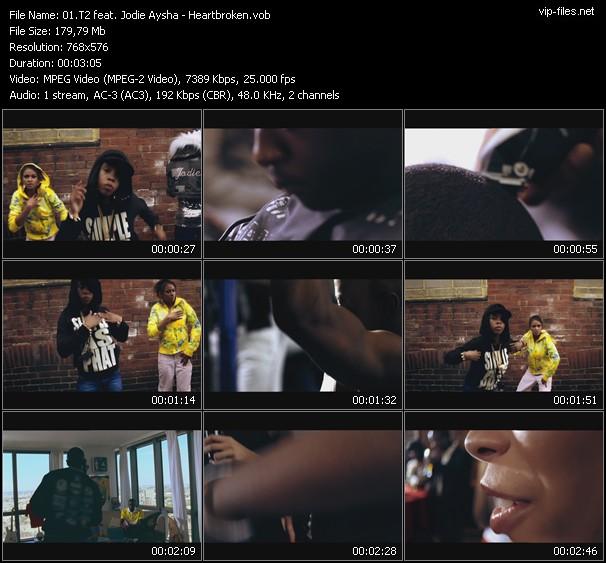 T2 Feat. Jodie Aysha HQ Videoclip «Heartbroken»