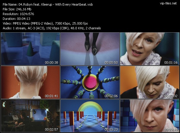 Robyn Feat. Kleerup HQ Videoclip «With Every Heartbeat»