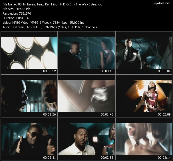 Timbaland Feat. Keri Hilson And D.O.E. HQ Videoclip «The Way I Are»