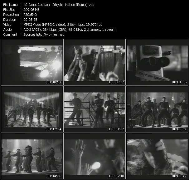 Janet Jackson HQ Videoclip «Rhythm Nation (Remix)»