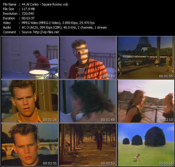 Al Corley HQ Videoclip «Square Rooms»