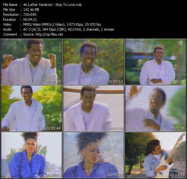 Luther Vandross HQ Videoclip «Stop To Love»