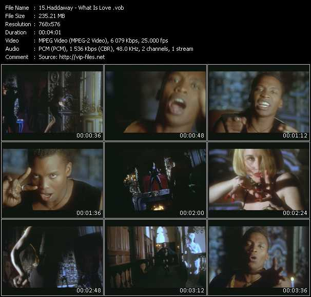Haddaway video - What Is Love