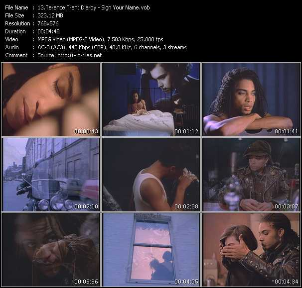 Terence Trent D'Arby HQ Videoclip «Sign Your Name»