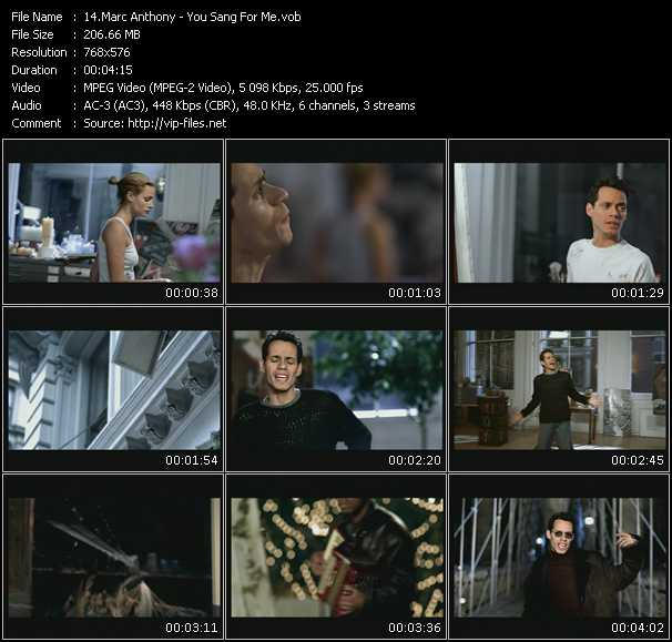 Marc Anthony HQ Videoclip «You Sang For Me»