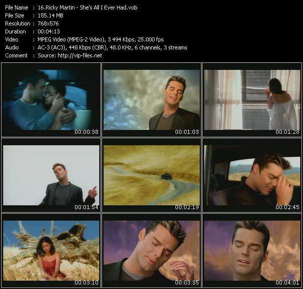 Ricky Martin HQ Videoclip «She's All I Ever Had»