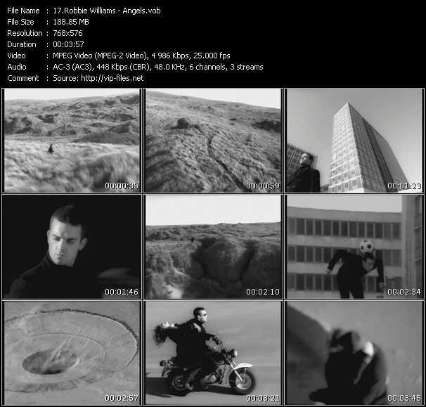 Robbie Williams HQ Videoclip «Angels»