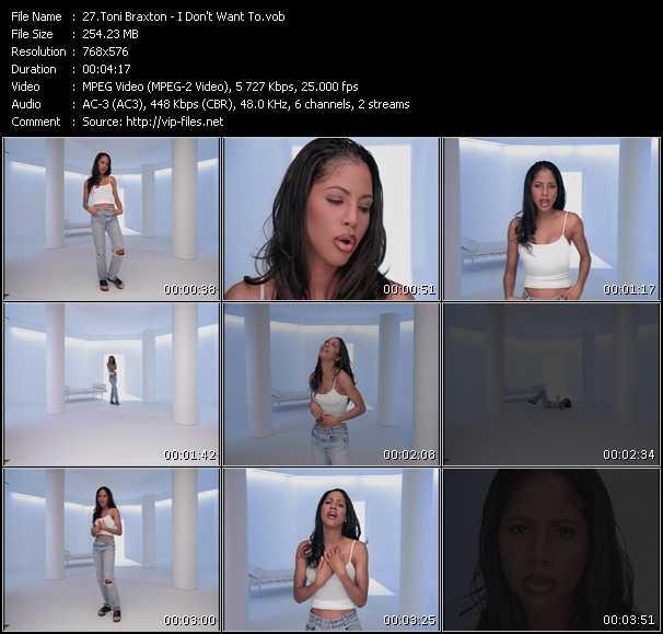 Toni Braxton HQ Videoclip «I Don't Want To»