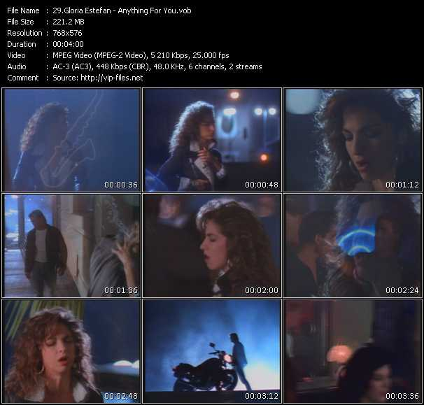 Gloria Estefan HQ Videoclip «Anything For You»