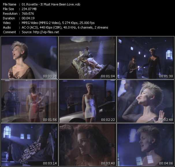 Roxette HQ Videoclip «It Must Have Been Love»