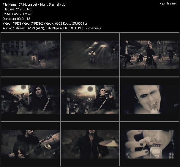 Moonspell HQ Videoclip «Night Eternal»