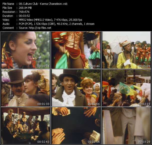 Culture Club HQ Videoclip «Karma Chameleon»