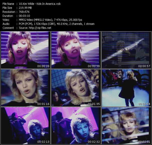 Kim Wilde HQ Videoclip «Kids In America»