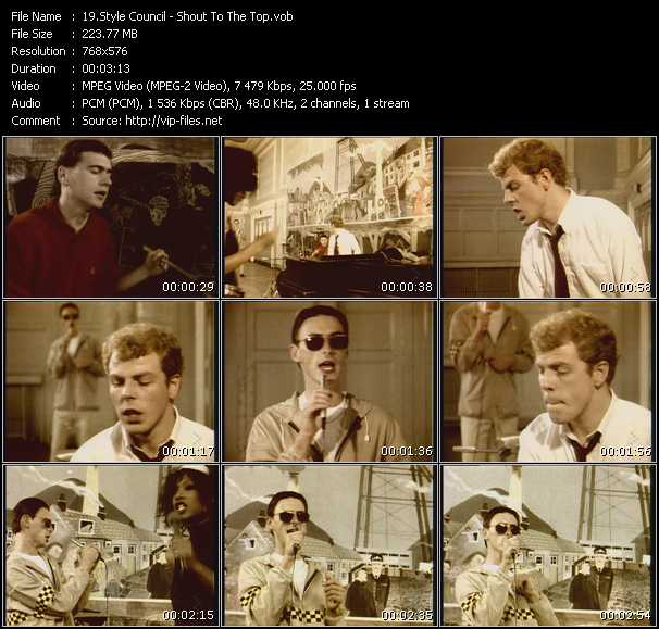 Style Council HQ Videoclip «Shout To The Top»