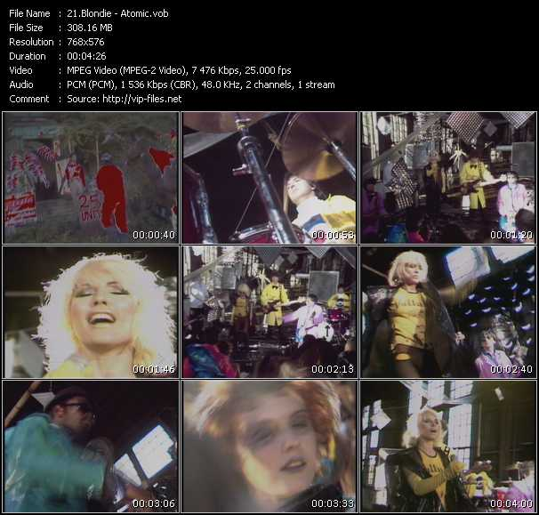 Blondie HQ Videoclip «Atomic»