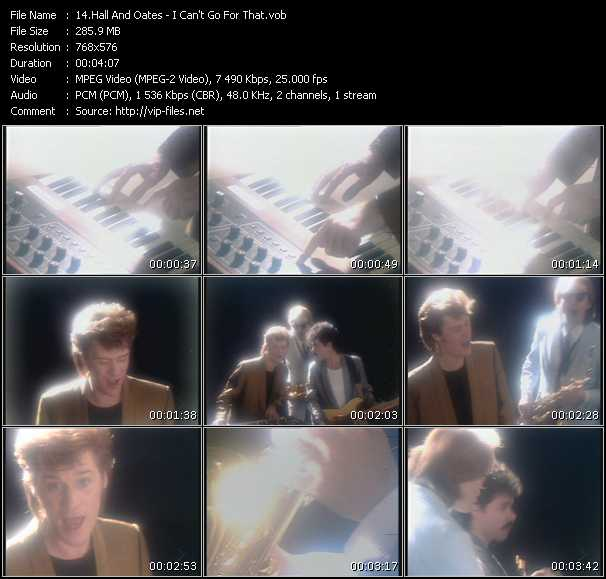 Hall And Oates (Daryl Hall And John Oates) video - I Can't Go For That