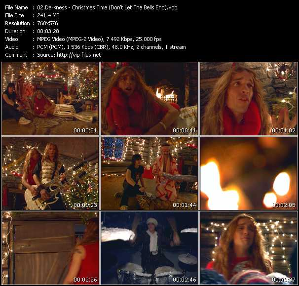 Darkness HQ Videoclip «Christmas Time (Don't Let The Bells End)»