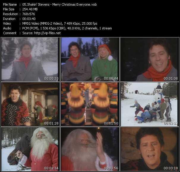 Shakin' Stevens HQ Videoclip «Merry Christmas Everyone»