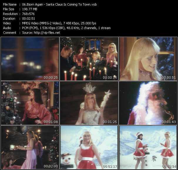 Bjorn Again HQ Videoclip «Santa Claus Is Coming To Town»
