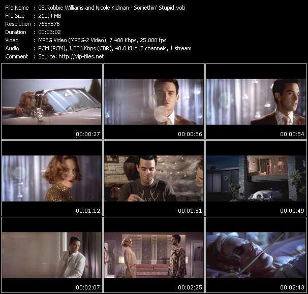 Robbie Williams And Nicole Kidman HQ Videoclip «Somethin' Stupid»