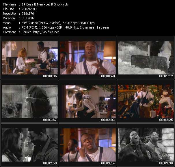 Boyz II Men HQ Videoclip «Let It Snow»