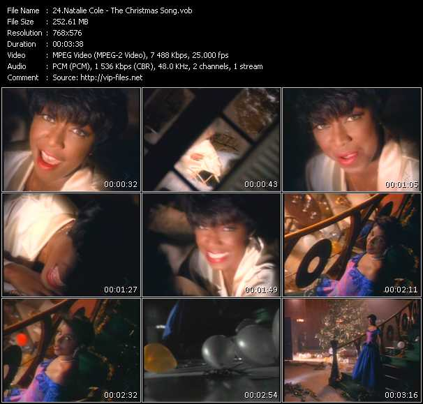 Natalie Cole HQ Videoclip «The Christmas Song»