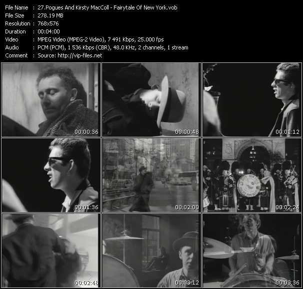 Pogues And Kirsty MacColl HQ Videoclip «Fairytale Of New York»