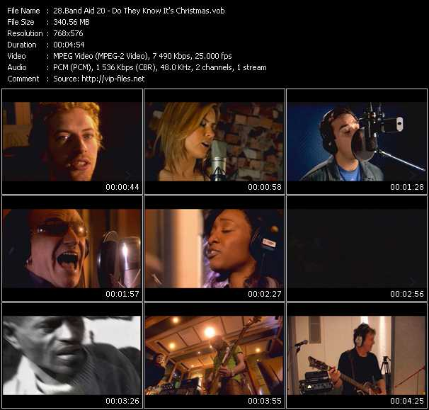 Band Aid 20 HQ Videoclip «Do They Know It's Christmas?»