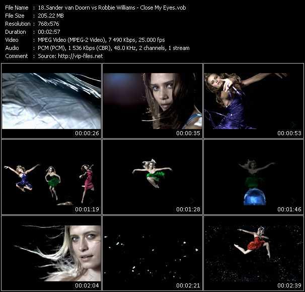 Sander Van Doorn Vs. Robbie Williams HQ Videoclip «Close My Eyes»
