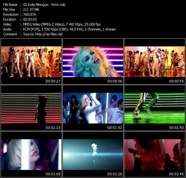 Kylie Minogue video - Wow