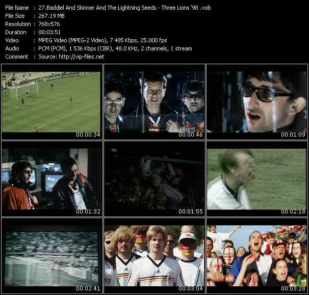 Baddiel, Skinner And The Lightning Seeds HQ Videoclip «Three Lions '98»