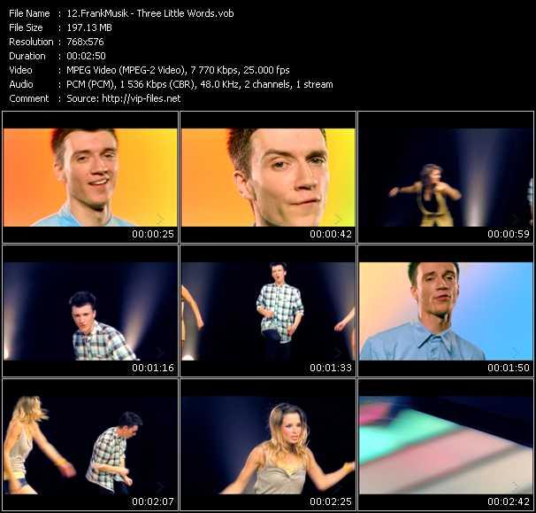 FrankMusik HQ Videoclip «Three Little Words»