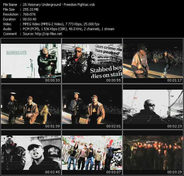 Visionary Underground HQ Videoclip «Freedom Fightaz»