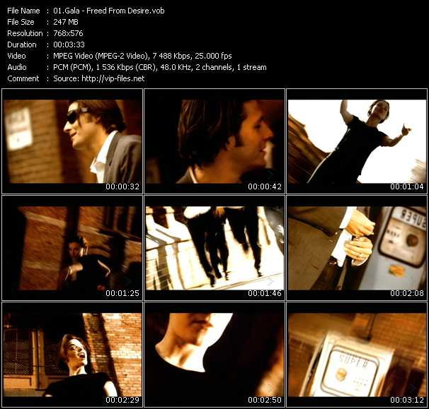 Gala HQ Videoclip «Freed From Desire»