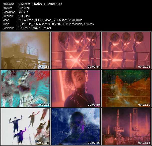 Snap! HQ Videoclip «Rhythm Is A Dancer»