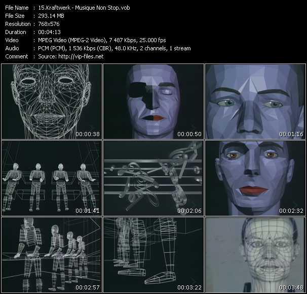 Kraftwerk HQ Videoclip «Musique Non Stop»