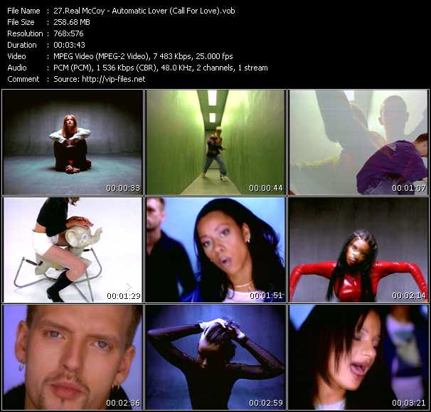 Real McCoy (Mc Sar And The Real McCoy) HQ Videoclip «Automatic Lover (Call For Love)»