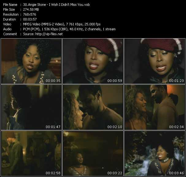 Angie Stone HQ Videoclip «I Wish I Didn't Miss You»