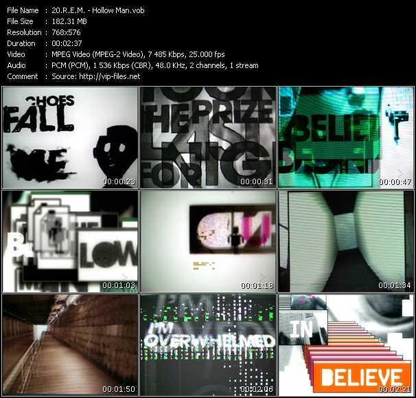 R.E.M. video - Hollow Man