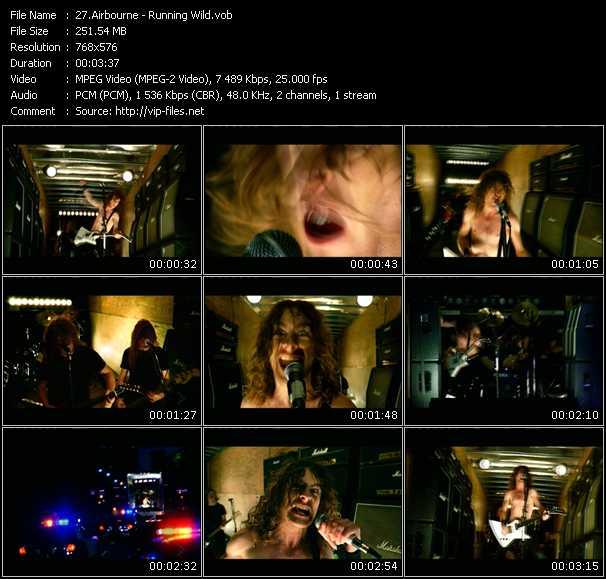 Airbourne HQ Videoclip «Running Wild»