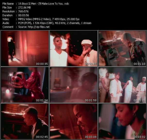 Boyz II Men HQ Videoclip «I'll Make Love To You»