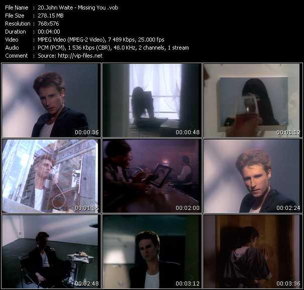 John Waite HQ Videoclip «Missing You»