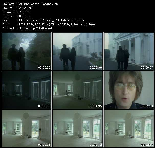 John Lennon HQ Videoclip «Imagine»