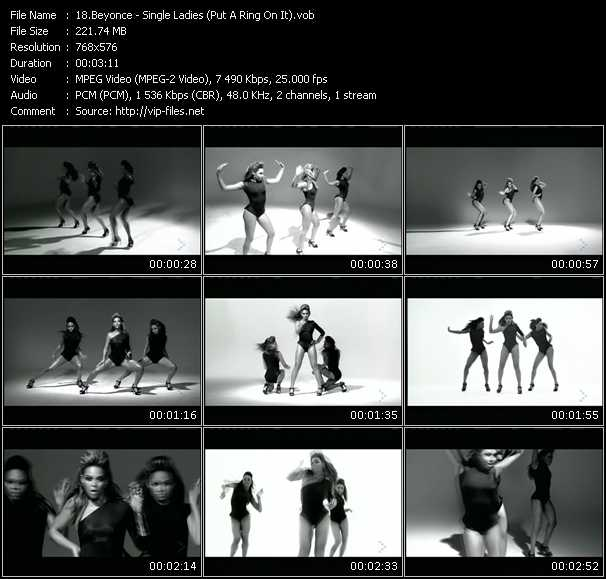 Beyonce HQ Videoclip «Single Ladies (Put A Ring On It)»