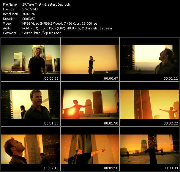 Take That HQ Videoclip «Greatest Day»