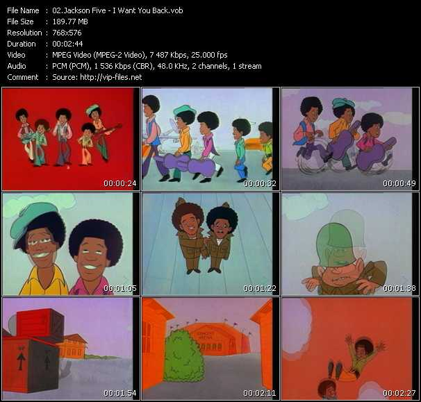 Michael Jackson And The Jacksons (Jackson 5) HQ Videoclip «I Want You Back»
