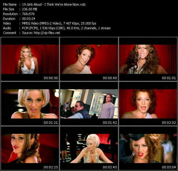 Girls Aloud HQ Videoclip «I Think We're Alone Now»